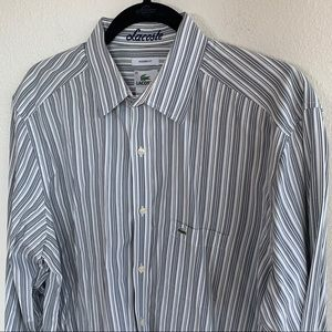 Lacoste Modern Fit Striped Button Down